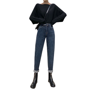 High rise skinny straight jeans cheap from China