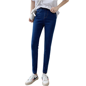 Wholesale high waist stretch cotton plus velvet denim leggings