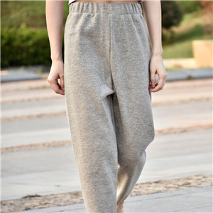 High waist slim cotton cheap trousers