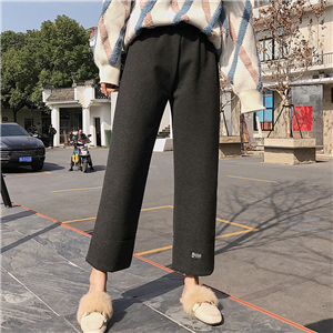 Wholesale high waist cropped cotton pants