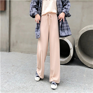 Wholesale cashmere striped slim trousers
