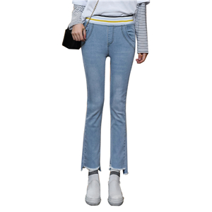 Wholesale elasticated stretch cotton jeans