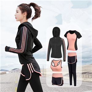 Wholesale cotton high waist stretch yoga suit
