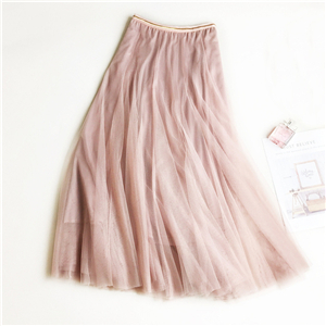 Wholesale solid color slim mesh cheap skirt