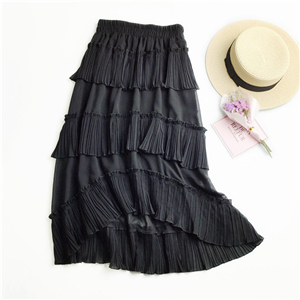 Wholesale irregular ruffled high waist cake skirt