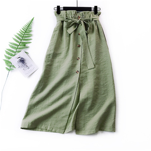 Wholesale high waist solid color cotton skirt