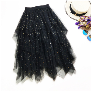 Wholesale sequins stars irregular cake skirt