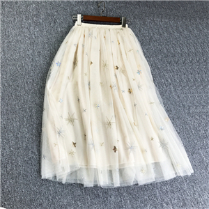 Wholesale embroidery mesh skirt