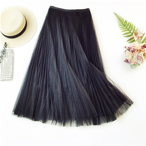 Wholesale gradient color point accordion pleated skirt