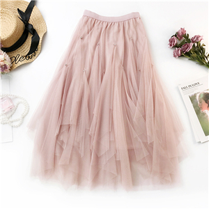 Wholesale ordering irregular mesh skirt