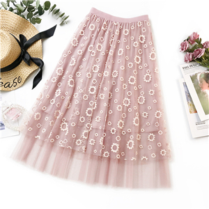 Solid-color-embroidered-lace-cheap-skirt