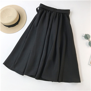 Wholesale solid color high waist slim skirt