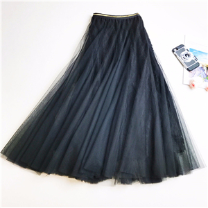 Wholesale high waist slim stitching mesh lace skirt