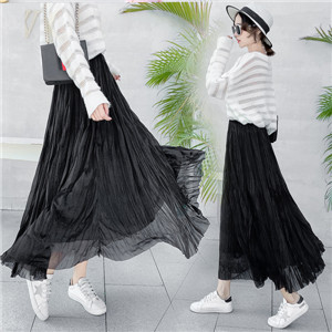 Wholesale solid color high waist cotton skirt