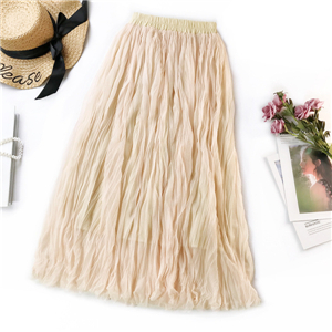 Wholesale high waist solid color compression cotton skirt