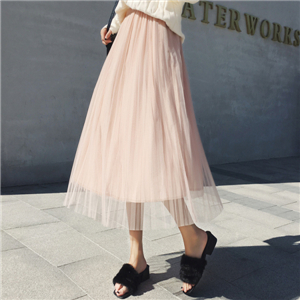 China cheap solid color cotton mesh skirt
