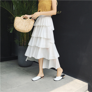 High waist slimming irregular cake skirt wholwsale from China