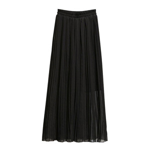 Wholesale high waist chiffon pleated wide leg pants