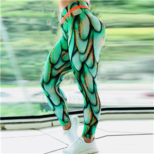 China cheap high waist printed yoga leggings