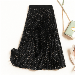 Wholesale polka dot cotton skirt