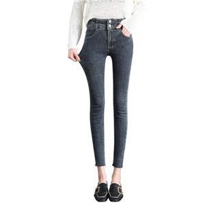 Wholesale high waist tight cotton jeans