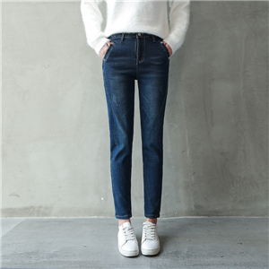 Wholesale high waist loose stretch cotton jeans