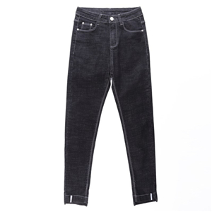 China cheap high waist tight cotton denim pants
