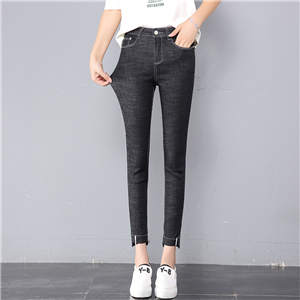 Wholesale cotton high waist stretch jeans