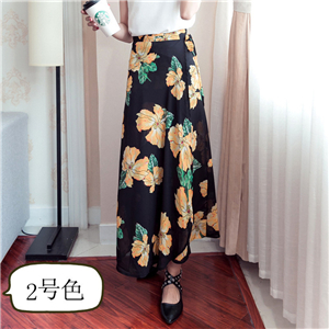 China wholesale printed chiffon skirt