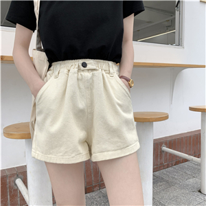 Wholesale high waist loose cotton denim shorts