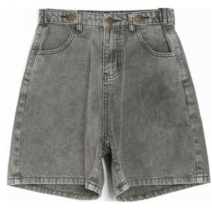 High-waist-slim-cotton-short-denim-shorts