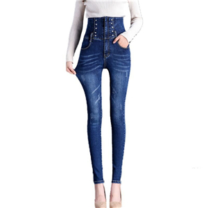 Wholesale high waist tight stretch denim leggings