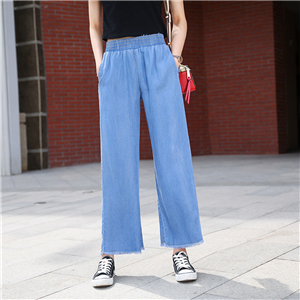 Wholesale high waist ultra-thin cotton denim pants