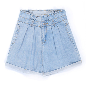 Wholesale high waist cotton denim shorts