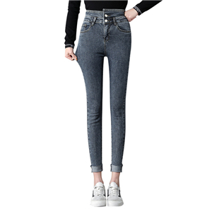 Wholesale high waist tight skinny nine point jeans