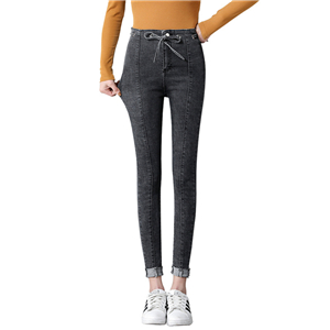 Wholesale high waist stretch nine points jeans