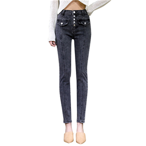 High waist tight stretch cheap jeans