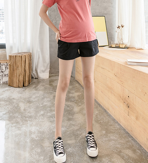 Cotton summer maternity shorts leggings