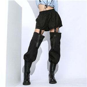 Wholesale high waist detachable cotton pants