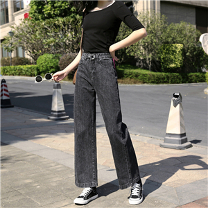 Wholesale high waist slimming stretch jeans