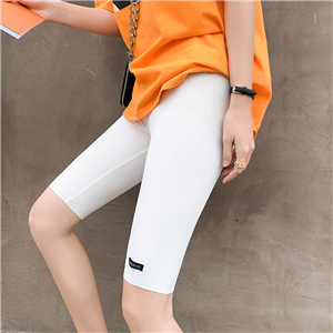 China wholesale high waist slimming cotton five-point leggings