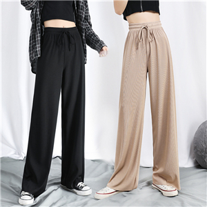 Wholesale high waist slimming cropped pants