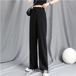 Wholesale high waist cotton straight cropped pants
