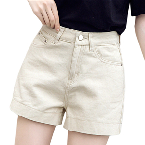 Wholesale high waist loose slim denim shorts