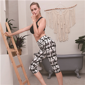 Wholesale high waist slim cropped yoga leggings