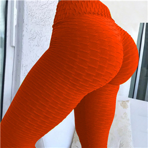 Wholesale high waist fluorescent color yoga leggings