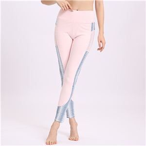 Wholesale high waist printing stitching mesh yoga leggings
