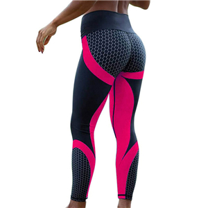 Wholesale high waist geometric print yoga leggings