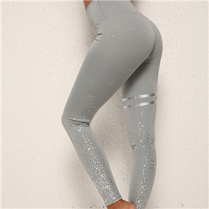 Wholesale high-waisted hot stamping printed yoga leggings