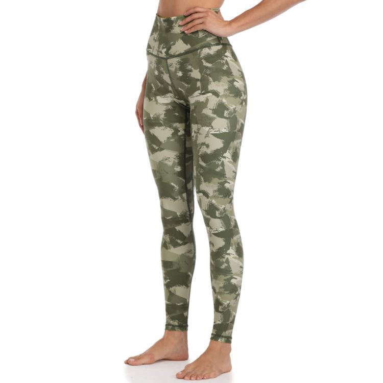 Yoga sports tights high waist camouflage leggings for woman